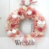 Flower Wreath PINK  (送料無料)